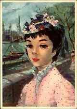 CPA Frankreich France Künstlerkarte Frimousses de PARIS Carte Postale Kunst-AK