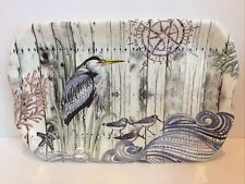 Kellar Charles Nautical Themed Melamine Tray- Sea Birds & Sea Life-Beautiful