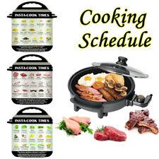 3Pcs Food Cooking Schedule Magnetic Sticker For Instant Pot & Pressure Cooker SR