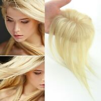Mono Base Clip in Blonde  100% Human Hair Topper Hairpiece Cover Thinning Hair