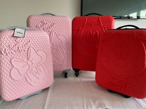 Primark Disney Pink red Minnie Mickey Mouse Cabin mini suitcase Luggage