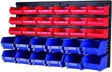 Wall Mounted Storage Parts Rack Screw Bolt Shop Garage Tool Box 30 Bin Organizer