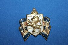 Large WW2 British War Relief Badge, Maker Stamped, Pin Back w/Related Documents