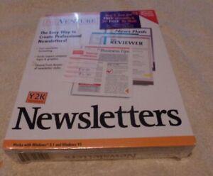 PROVENTURE NEWSLETTERS CD ROM DESKTOP PUBLISHING Windows 95 3.1 NEW