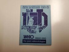 RS20 University of Dayton 1978/79 Basketball Pocket Schedule - WHIO/Schlitz