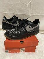 NIKE AIR FORCE 1 PREMIUM SZ 10.5 island black grey woven 2005 100% Authentic