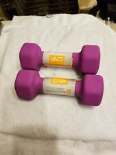 CAP Dumbbells 5lbs Set Of 2 Purple Pair Hex Weights 5 Pounds Dumbells 10LB Total