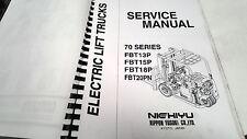 2005  NICHIYU ELECTRIC FORK LIFT Factory Service Manual