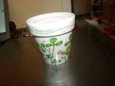 Planter Irish Green Clover White Ceramic planter