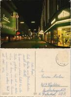 Ansichtskarte Gelsenkirchen Bahnhofstraße bei Nacht - Leuchtreklame 1978