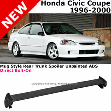 For Civic 2D 96-00 Rear Spoiler Trunk Lid Lip Wing Mug Style JDM Trim Bolt-on