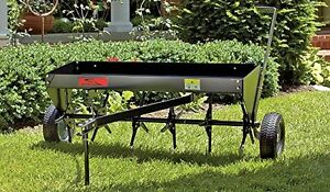 NEW Tow Behind Plug Aerator, 40-Inch Lawn Care Yard and Garden Deep Aeration