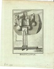 ANTIQUE PRINT HOLT CASTLE C1760 PUBLISHED HOGG