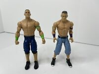 WWE Elite John Cena Action Wrestling Figures Blue Shorts Lot Of 2 Mattel 2013 VG