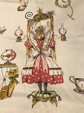 Vintage Cotton Alice In Wonderland Drapes Curtains
