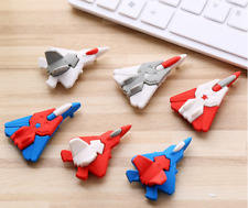 3 x Novelty Planes shape Removable Eraser Rubber Stationery Kid Gift Party