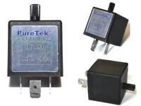 PureTek® CF13 3 Pin Adjustable LED Indicator Relay Car Turn Signal Flasher