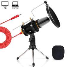 Pro Microphone 3.5mm Tonor PC Condenser Sound Podcast Studio  for PC Laptop Mac