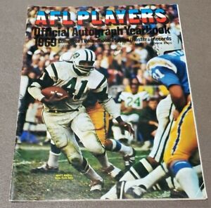 1969 AFL Players Official Autograph Yearbook