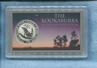 1992 Kookaburra $1 SILVER 1 oz  Coin Australian Dollar in a case