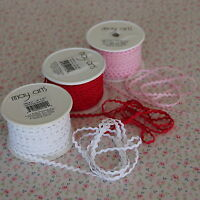 "3m White Mini/Baby Ric Rac Trim 1/8"" / 3mm, Wrap"