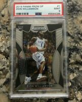 2019 Panini Prizm Draft Picks #1 Zion Williamson Rookie RC PSA 9 Mint Duke