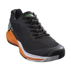 Wilson Rush Pro 3.5 Paris Men's Tennis or Pickleball Shoe (Black/Orange/White)
