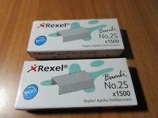 Rexel Bambi Staples No.25 Stapler Refills - Pack 1500