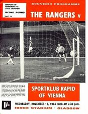 Rangers European Cup Home Teams O-R Football Programmes