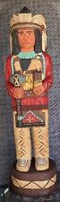 4' CIGAR STORE INDIAN 4 ft Red Coat, Tomahawk, Cigars Carved by Frank Gallagher