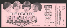 "The BEATLES ""HELP!"" Movie Premiere Showing Full Ticket"