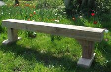 Small Solid Oak Hardwood Sleeper Bench/Garden Furniture - 1.2m