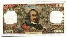 100 francs CORNEILLE   X 1027