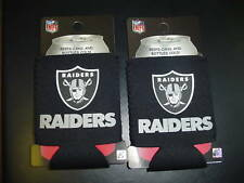 New Oakland Raiders Black 2 Ct Lot Tailgate PARTY BEER BOTTLE CAN HOLDER