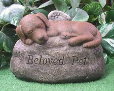Beloved Pet Sleepy Puppy Dog Memorial Latex Fiberglass Production Mold Concrete
