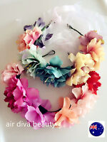 NEW Women Girl BIG Flower Party Wedding Beach Tiara Crown hair headband Garland