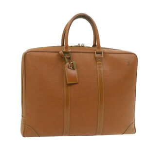 LOUIS VUITTON Epi Porte Documents Voyage Brown Briefcase M54478 LV Auth 20740