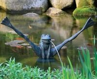 AQUASCAPE CRAZY LEGS FROG SPITTER FOUNTAIN WITH PUMP 78010