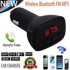 Vodool Wireless Bluetooth Car MP3 FM Transmitter Adapter USB Charger For iPhone