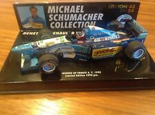 1/43 Minichamps Bennetton B195/2 Schumacher France winner msc #24