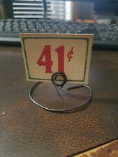 """41c Vintage 1930s Country Store Sign & Stand 1.75"""" x 2.25"""""""