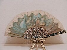 Rare Antique Hand Painted Victorian Fan Figures Children Playing Signed + Notes