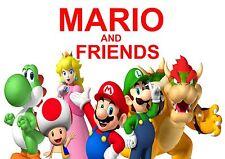Mario Y Amigos cartel de tela posicional A4 re