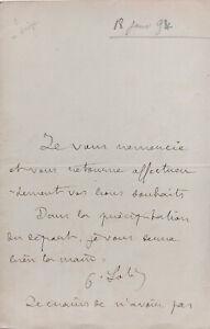 Pierre LOTI - Lettre autographe signée évoquant Jean Poyanne