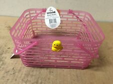 Rite Aid Easter Plastic Basket in Baby Pink and Easter Chick 7.75 In X 7 In W