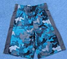 NWT Gymboree Gymgo Boys Teal Camo Polyester Active Pull-On Shorts, Size XS (4)