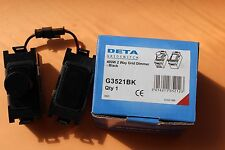 DETA G3521BK Grid Module 60-400w 2 way Dimmer Black Uses two grid spaces