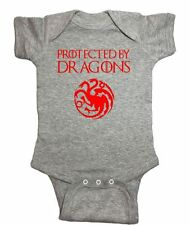 """Game of Thrones One Piece """"Protected By Dragons"""" Khaleesi Baby Bodysuit"""