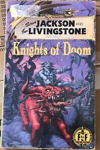 "Rare Fighting Fantasy Book FF56 "" Knights of Doom "" sticker marked - 99p start"