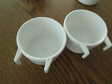 Play pen hook cup for bird, plastic similar to Planit # 455 set of 2 white